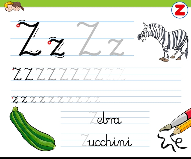 Hoe schrijf je letter z
