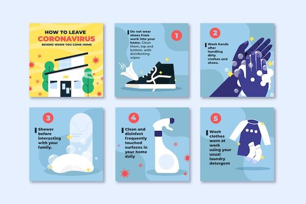 Hoe u coronavirus kunt achterlaten wanneer u instragramberichten thuiskomt