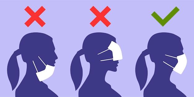 Hoe u een gezichtsmasker correct draagt