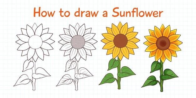 Hoe zonnebloem te tekenen
