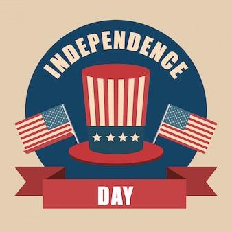 Hoed onafhankelijkheidsdag viering verenigde staten