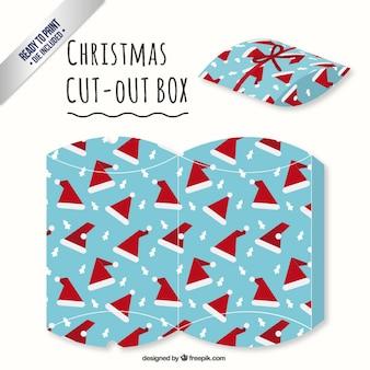 Hoed van de kerstman doos uitgesneden
