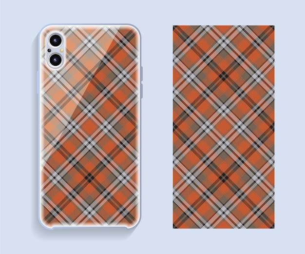Hoes voor mobiele telefoon. sjabloon smartphone case patroon.