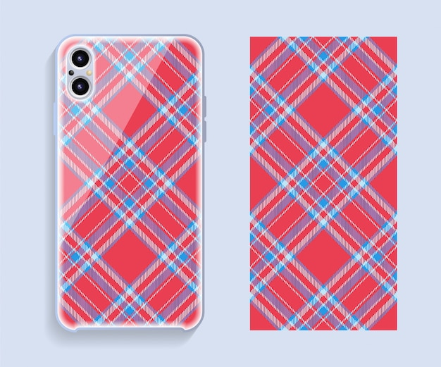 Hoes voor mobiele telefoon. sjabloon smartphone hoespatroon.