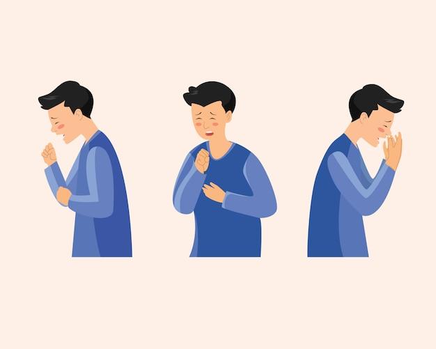 Hoestende mannen worden ziek