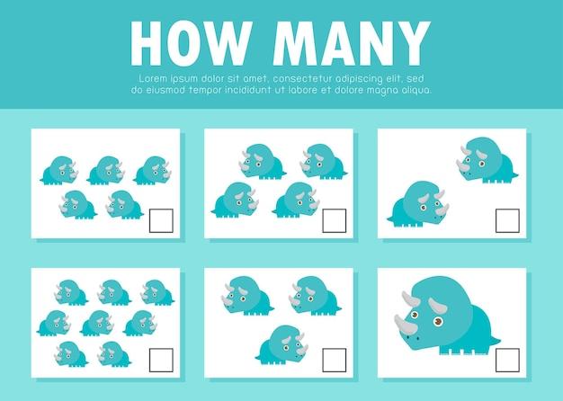 Hoeveel spel voor kinderen tellen spel voor kleuters leren wiskunde