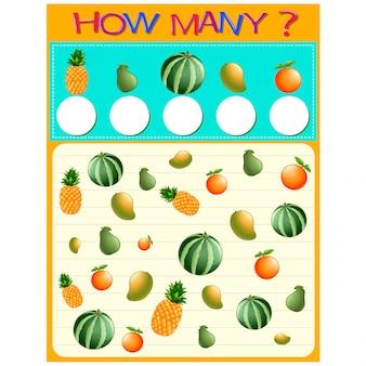Hoeveel werkblad met veel fruit