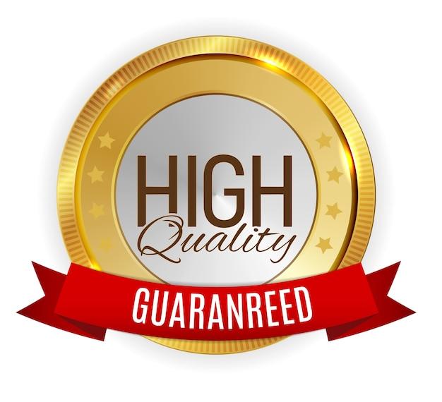 Hoge kwaliteit gouden label teken