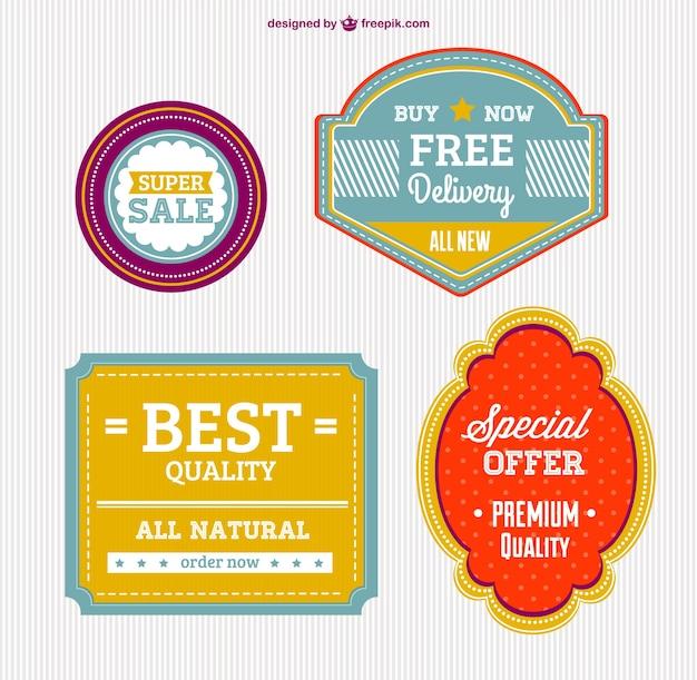 Hoge kwaliteit gratis badges