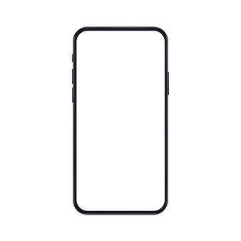 Hoge kwaliteit realistische nieuwe versie van smartphone met leeg wit scherm