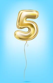 Hoge kwaliteit vector afbeelding van gouden ballonnen nummers