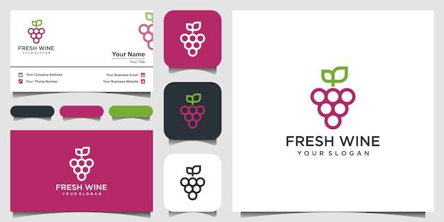 Hoge kwaliteit vlakke stijl pictogram illustratie van druiven symbool geïsoleerd