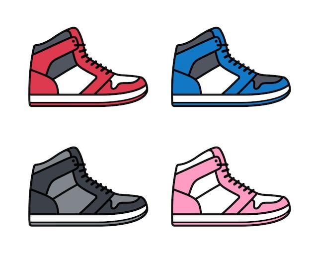 Hoge sneakers set