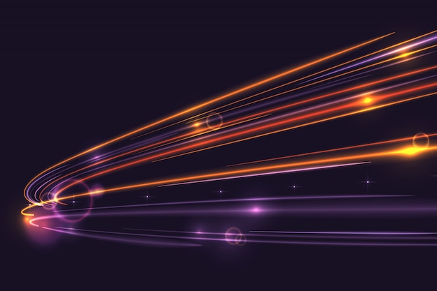Hoge snelheid lichten trail achtergrond