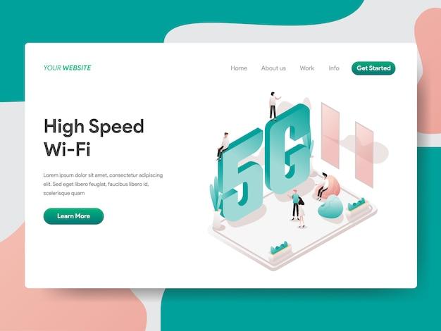 Hoge snelheid wi-fi voor webpagina