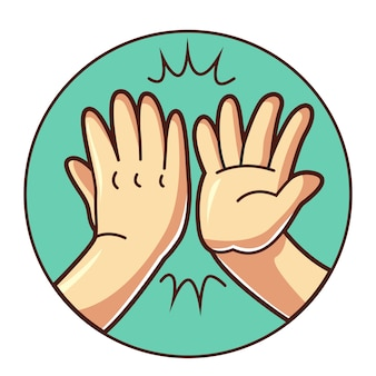 Hoge vijf hand
