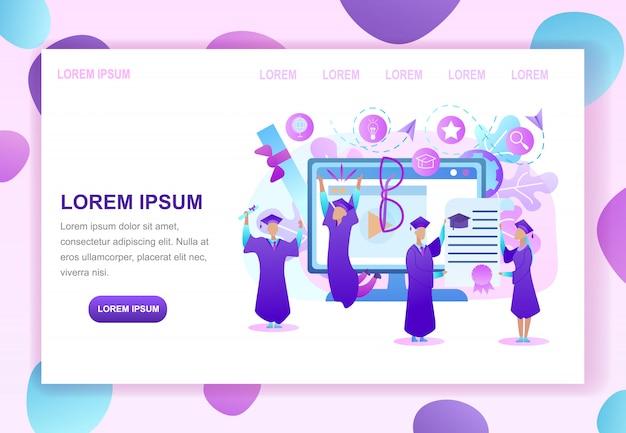 Hoger onderwijs in webpagina-paginasjabloon