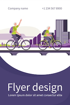 Hogere paar berijdende fietsen