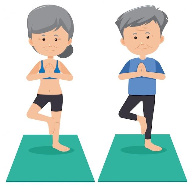 Hogere yoga op witte achtergrond