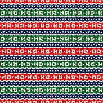 Hohoho kerstvakantie gebreid naadloos patroon wol gebreide textuur imitatie lelijke trui kerst