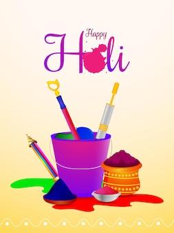 Holi-feestaffiche oe flyer