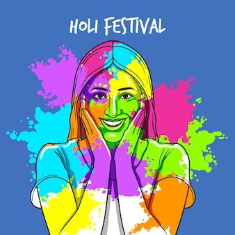 Holi festival achtergrond