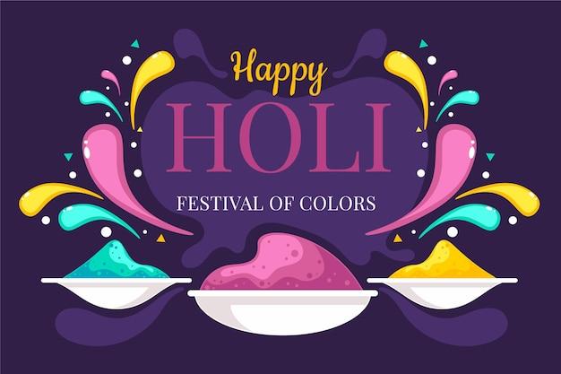 Holi festival behang
