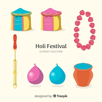 Holi festival element collectie