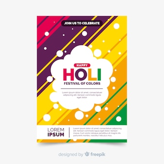 Holi festival folder sjabloon