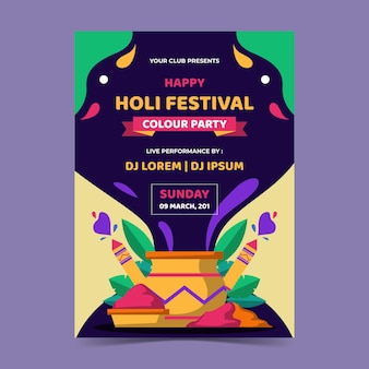 Holi festival folder sjabloon