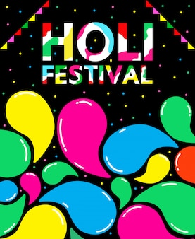 Holi festival illustratie voor internationale dag.