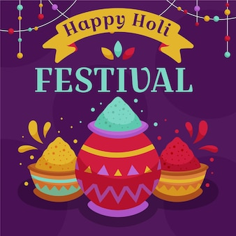 Holi festival illustratie