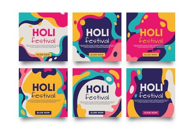 Holi festival instagram-bericht