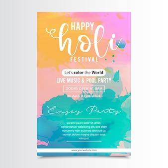 Holi festival poster ontwerp