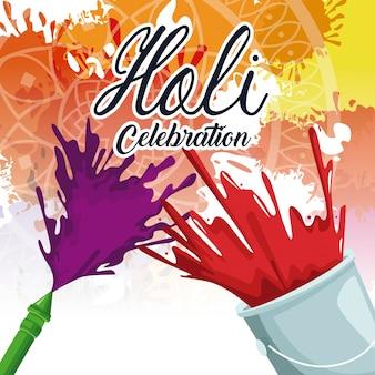 Holi viering ontwerp