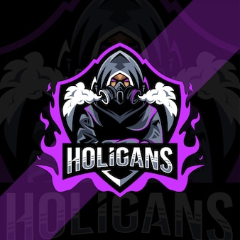 Holigans mascotte logo esport ontwerp