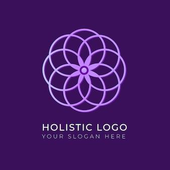 Holistisch concept logo sjabloon