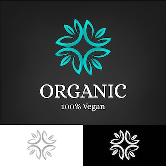 Holistische organische concept logo sjabloon