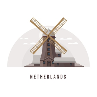 Holland en amsterdam city landmark