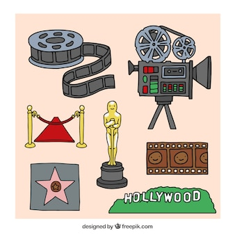 Hollywood-cinema elementen collectie