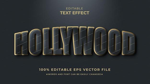 Hollywood-teksteffect filmstijl premium
