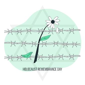 Holocaust herdenkingsdag concept illustratie