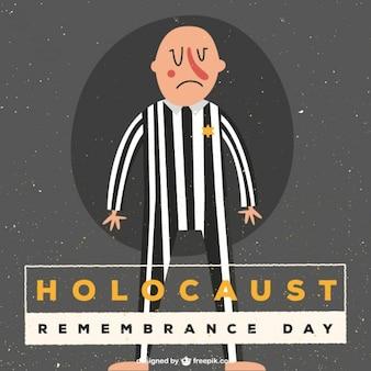 Holocaust herinneren dag illustratie
