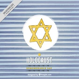 Holocaust remembrance day, met de hand getekende achtergrond