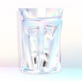 Holografisch iriserend hersluitbaar zakje zakje snack snack bom bom fizzers zout cosmetica huidverzorging cadeau schrijfwaren aromatherapie modeaccessoire trendy chique verpakking