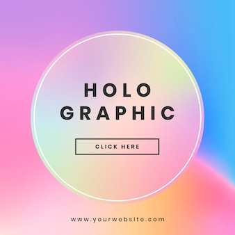 Holografisch websitebannerontwerp