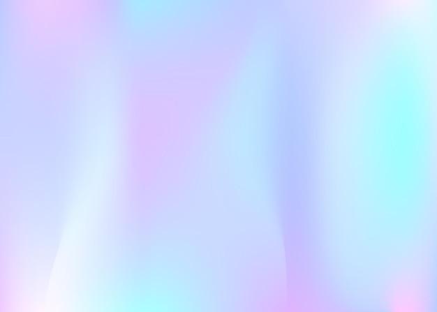 Holografische abstracte achtergrond. trendy holografische achtergrond met verloopnet. retro-stijl uit de jaren 90, 80. parelmoer grafische sjabloon voor banner, flyer, omslagontwerp, mobiele interface, webapp.