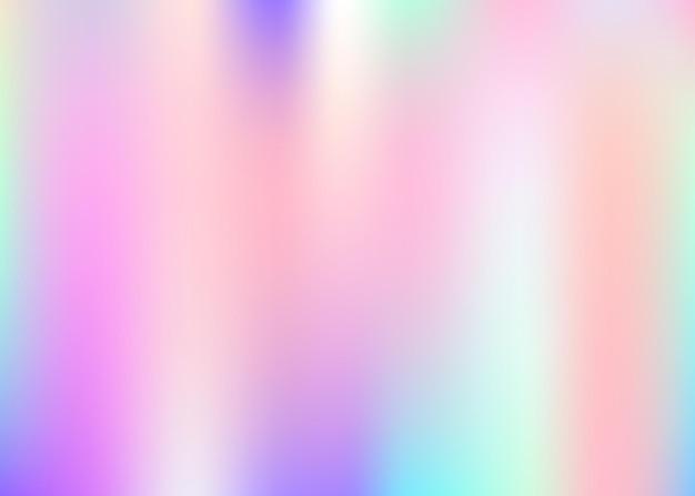 Holografische abstracte achtergrond. vloeibare holografische achtergrond met verloopnet. retro-stijl uit de jaren 90, 80. iriserende grafische sjabloon voor banner, flyer, omslagontwerp, mobiele interface, webapp.