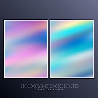 Holografische achtergrond met heldere kleuren