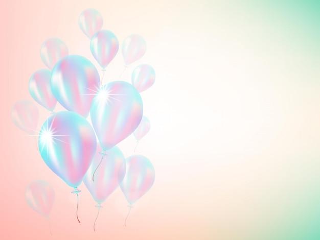 Holografische ballonachtergrond